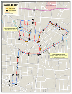 Freedom 10K Route